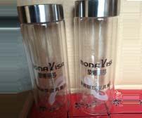 案例:蒙娜丽莎皮具集团定制双层玻璃杯