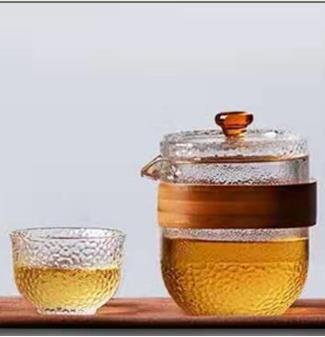 耐温玻璃茶具锤纹茶具出口东南亚之精品